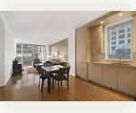 Theater District one bedroom with a windowed home office and a balcony 